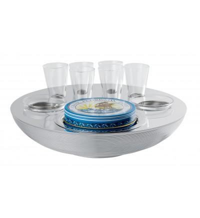Bol caviar-vodka 6 personnes et 2 condiments