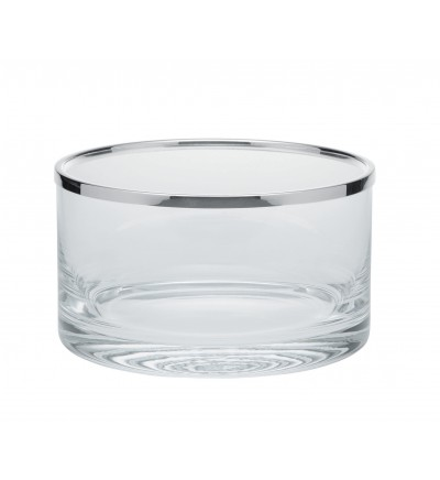 Straight glass bowl with rim